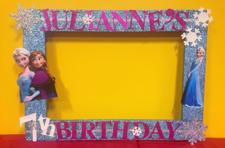 How To Make A Frozen Photo Booth Frame - Archivosweb.com