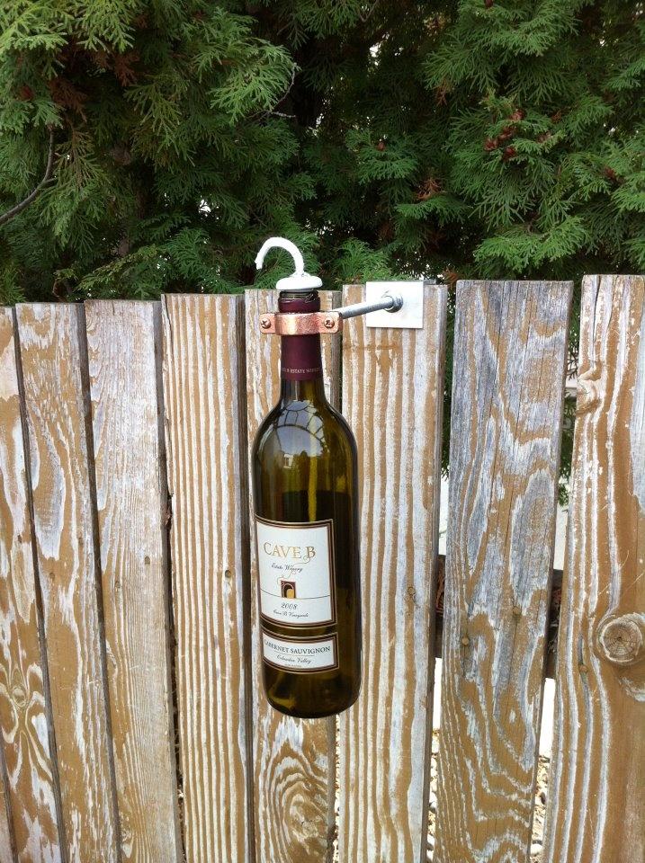 Cave B Wine Bottle Tiki Lamp 7