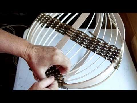 Herb Drying Basket (1): learning turn backs - YouTube