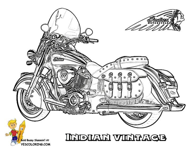 Print Out Motorcycle Coloring Sheets Of Jackets