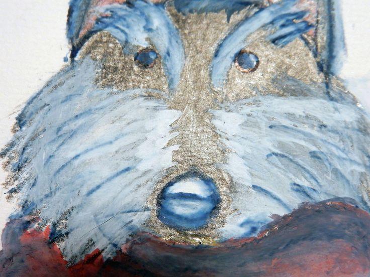 """Studio di """"Brave lo Scottish Terrier"""" - dettaglio (""""Brave the dog"""" - fairy tale character - detail)"""
