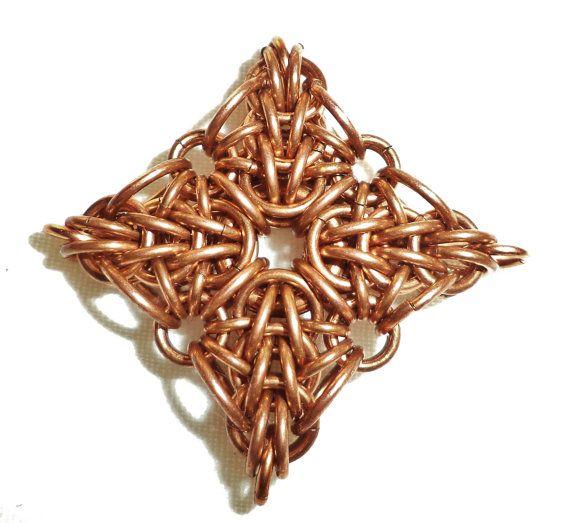 Chainmaille Pendant Nordstjerne or North Star -BrilliantSkulls