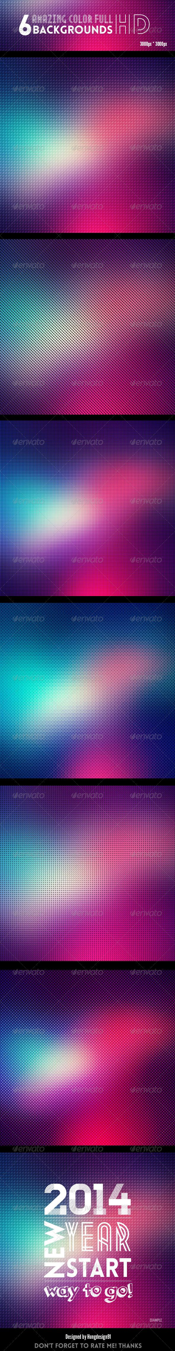 6 Geometric Color Full Backgrounds HD
