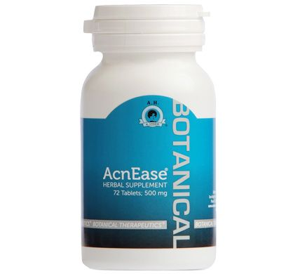 AcnEase is a safe and natural acne treatment made from herbal botanicals  for adult acne, acne scars, teen acne
