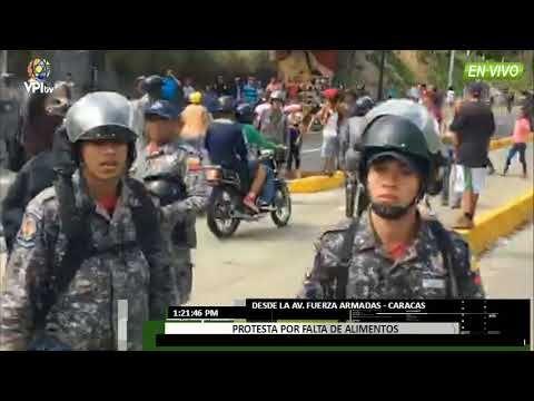 Venezuela- Policia Nacional dispersó manifestación en la avenida Victori...