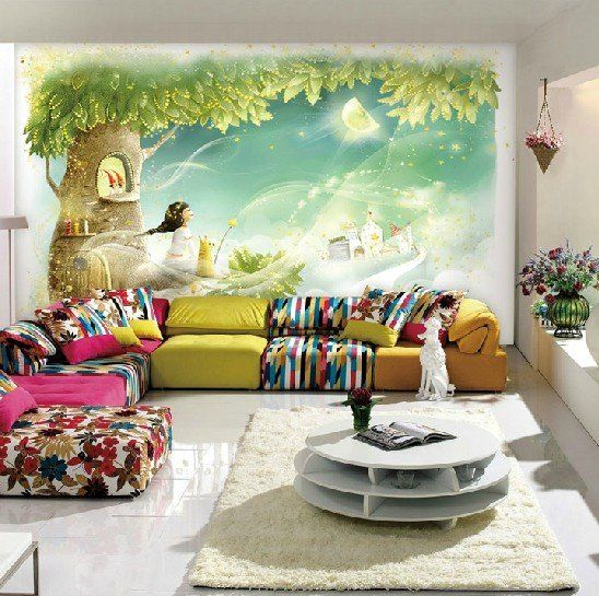 for a kids room or classroom - wall mural for only $70!
