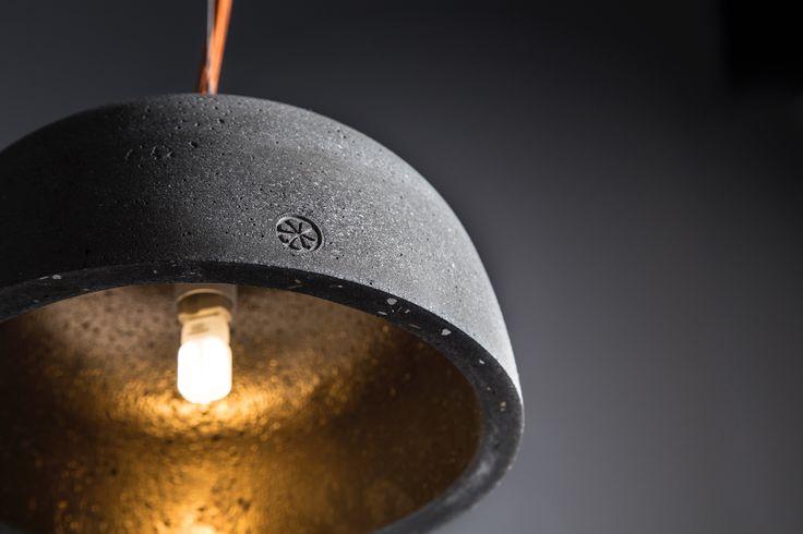 Ecuador. Hand made pendant lamp from concrete