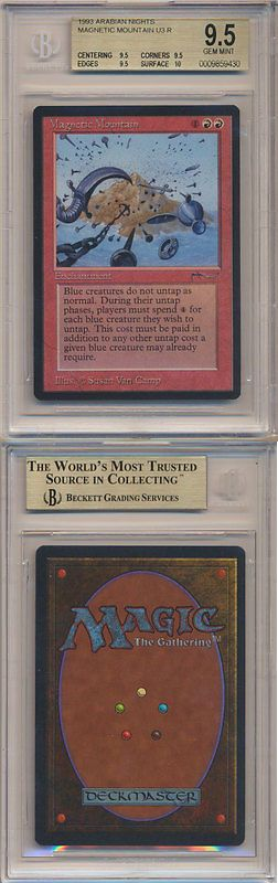 MTG Individual Cards 38292: Mtg Magic The Gathering Bgs 9.5 Quads+ Arabian Nights Magnetic Mountain Gem Mint -> BUY IT NOW ONLY: $149.99 on eBay!