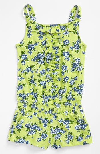United Colors of Benetton Kids Ruffle Romper (Little Girls & Big Girls) | Nordstrom