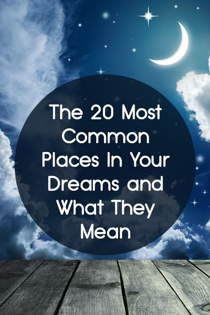 122 best dream meanings images on pinterest dream meanings the 20 most common places in your dreams and what they mean malvernweather Image collections