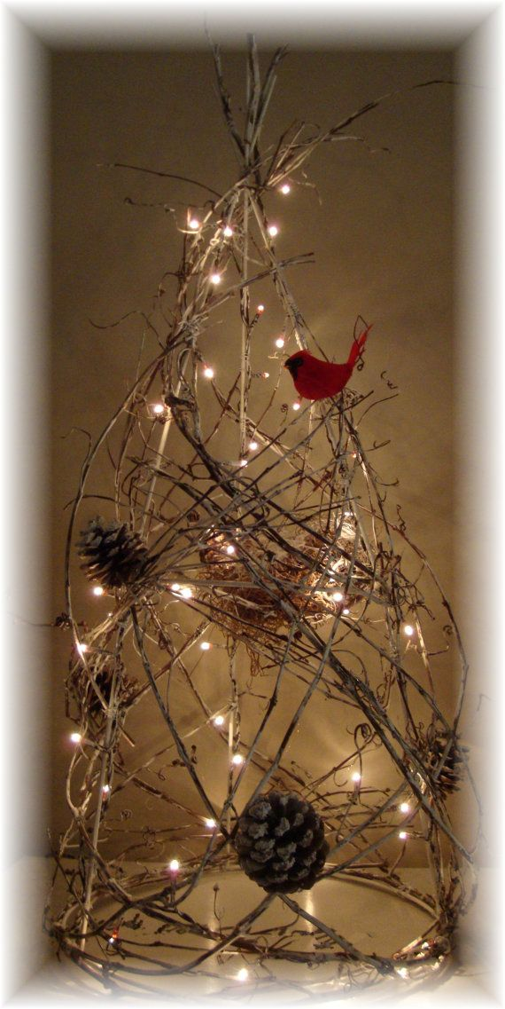 Grapevine Tree Lighted Rustic Christmas By