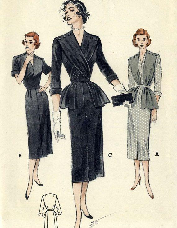 Vintage 60s Butterick 5633 Misses UNCUT Sheath by RomasMaison
