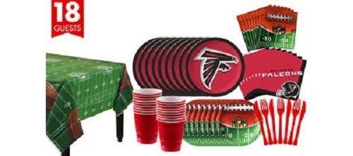 Atlanta Falcons NFL Football Superbowl Disposable Plate Napkins Cups Party Kit #AtlantaFalcons