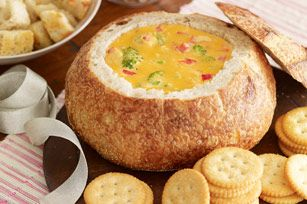 Love this recipe.  Great for gatherings.  I use fresh vegetables for dipping along with pieces of oven toasted bread.  Delish!  kraftfoods.com