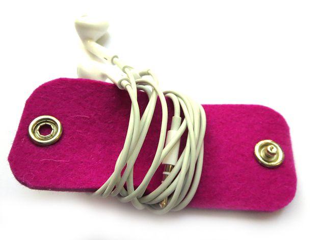 Kabel-Helferchen pink (Kopfhörer, Ladekabel)