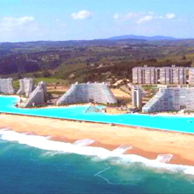 Worlds Largest Swimming Pool (over 1,000 Yards) In Chile