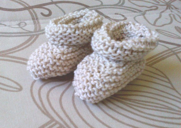 Baby Booties in Natural