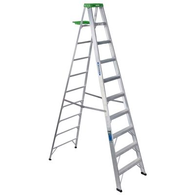 Werner Ladder 350ca 10 Ft Type Ii Aluminum Step Step Ladders Ladder Ladder Hanger