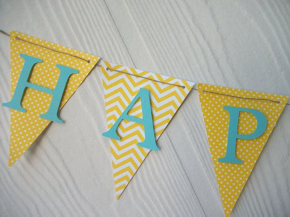 This listing is for a HAPPY BIRTHDAY banner. The perfect touch to any birthday celebration!    Matching High chair banner