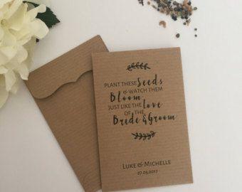 10 bruiloft gunst zaad Packet enveloppen gepersonaliseerd