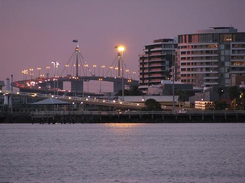 westgate bridge and port melbourne
