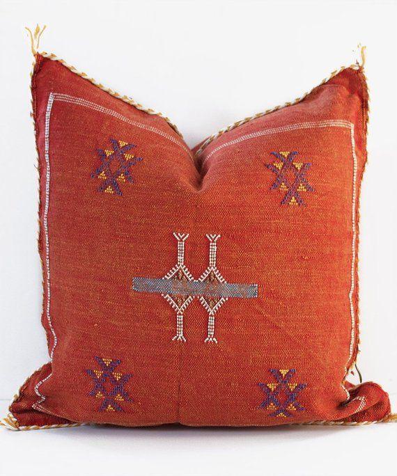 Moroccan Cushion Coussin Berber Decorative Pillow Decorative Pillow Moroccan Throw Pillow Cactus Silk Pillow Case Bohemian Pillow