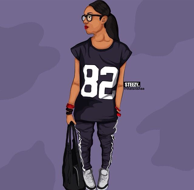 Black Girl Cartoon Swag