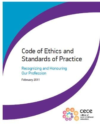 College of Early Childhood Educators - Code of Ethics and Standards of Practice