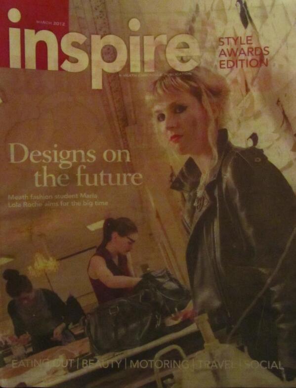Maria Lola Roche on front cover of Inspire Magazine www.marialolaroche.com https://www.facebook.com/pages/Maria-Lola-Roche/162463010434983?ref=hl https://twitter.com/MariaLolaRoche