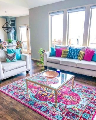 80+ Stunning Colorful Living Room Decor Ideas And Remodel for Summer Project