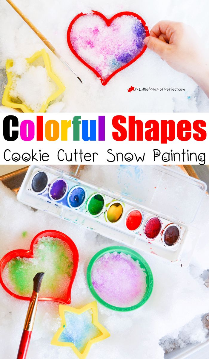 12 creative winter play ideas for kids painting colorful shapes in the snow and playing - Pictures Of Kids Painting