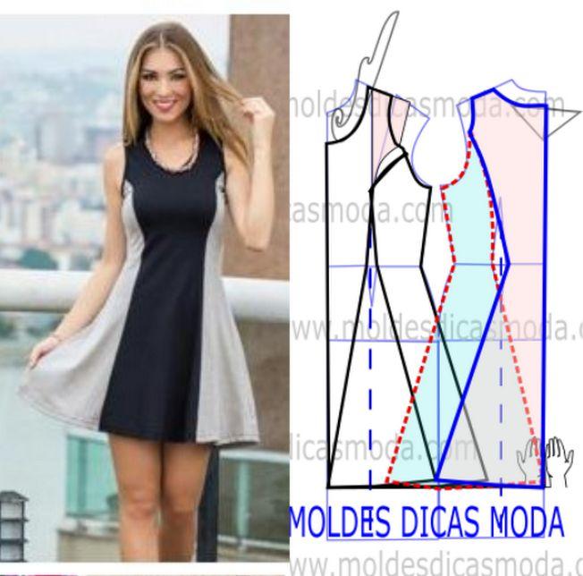 VESTIDO DE PANOS LEVES - Moldes Moda por Medida