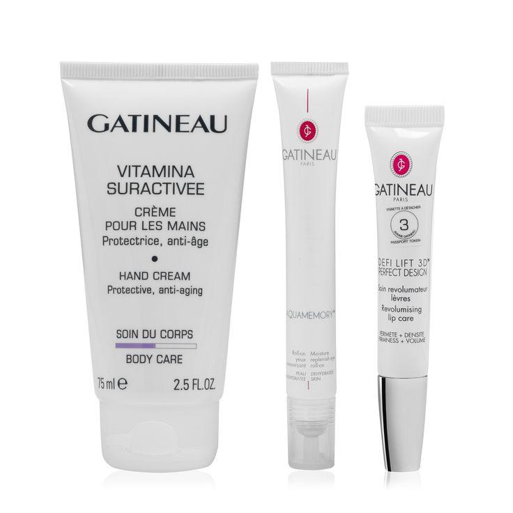 Gatineau Nella borsa delle ragazze: idratante labbra, idratante occhi, crema mani (3 pz) #QVCPressDay