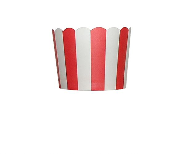 Baking Cup Rood verticale streep