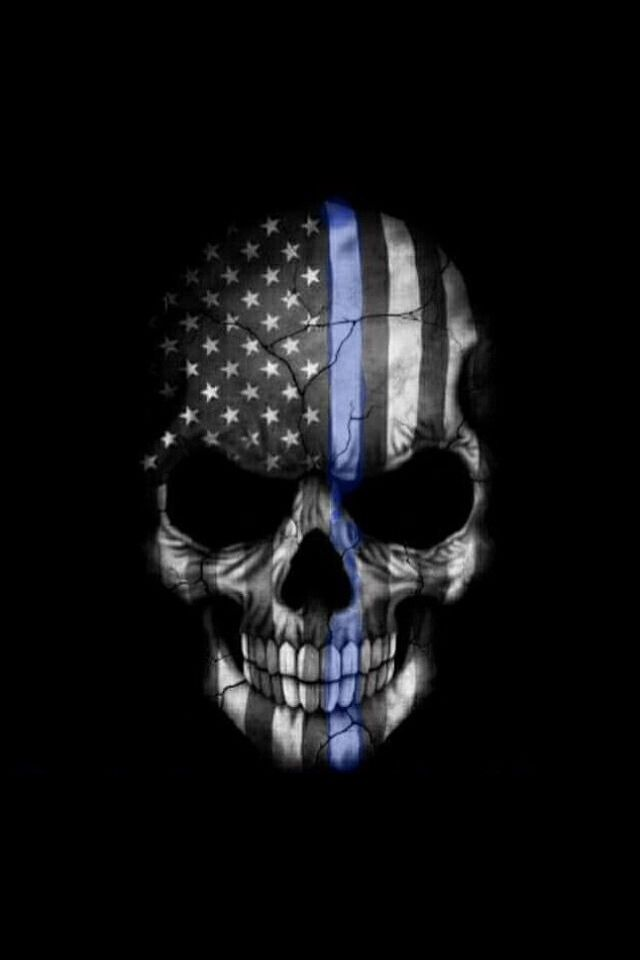 Law enforcement. Thin Blue Line Police   Tactical Gear ... Stormtrooper Helmet Sugar Skull