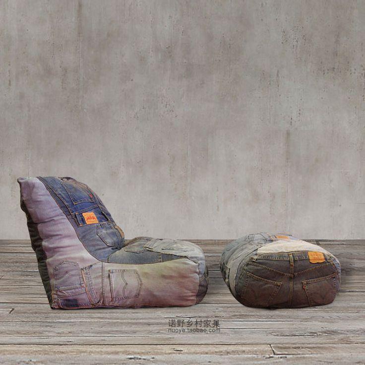 32 best DENIM FURNITURE images on Pinterest Denim furniture