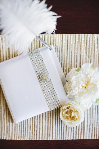 Champagne Wedding Guest Book