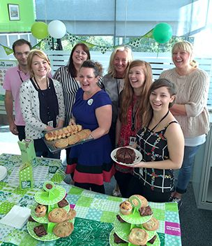 To mark the 10th anniversary of the Society supporting this charity event, branches and departments hosted their own coffee and cake sales. Society staff have raised more than £8,000 over the years for Macmillan Cancer Support.