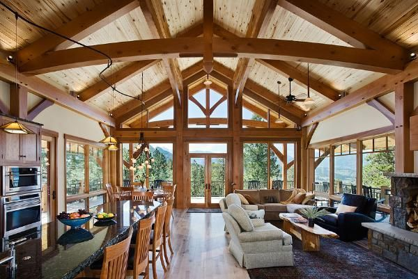 79 best images about post beam on pinterest vacation for Post beam house