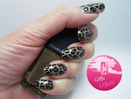Leopard Print Nails #manails #nailart #fallmani #cutenails - bellashoot.com
