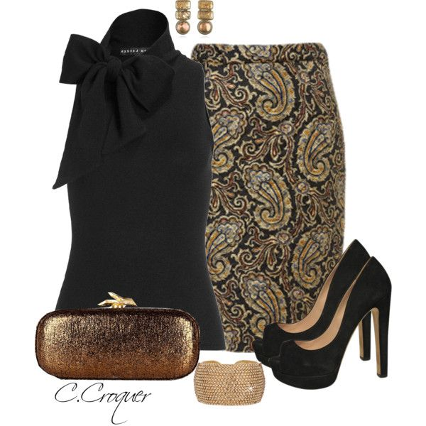 """Classy with Paisley"" by ccroquer on Polyvore"