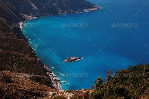 Greek Gulf in Kefalonia Island of Greece