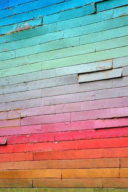 Rainbow Wall #colorstory