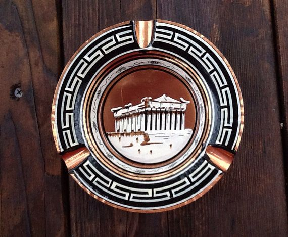 Vintage Copper Greek Parthenon Dish Ashtray by ContemporaryVintage, $10.00