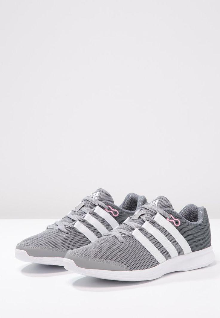 adidas Performance LITE RUNNER - Obuwie do biegania Lekkość - midnight grey/white/vista grey za 199 zł (30.01.16) zamów bezpłatnie na Zalando.pl.