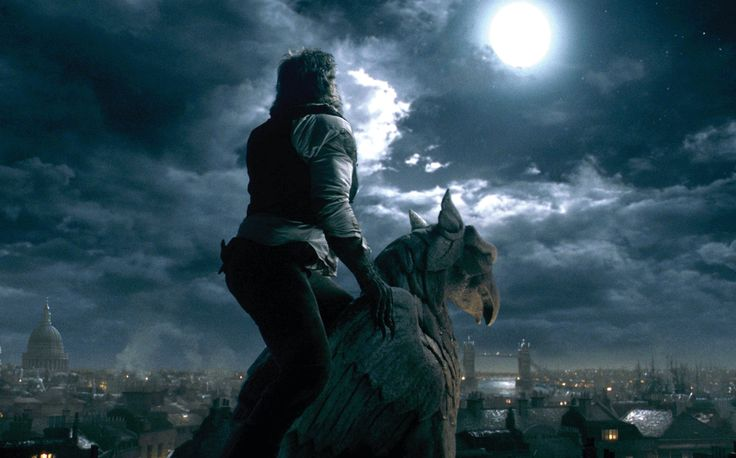 Benicio Del Toro bays at the moon in The Wolfman. Photo courtesy Universal Pictures.