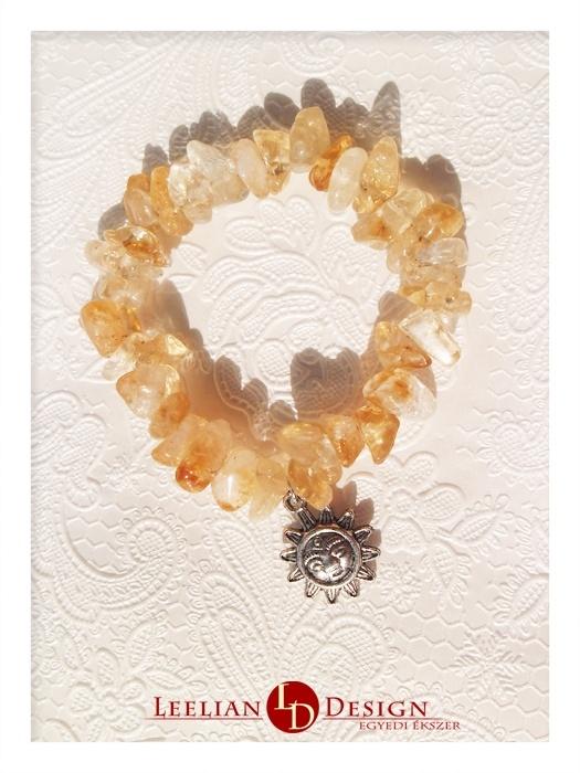 A sunny bracelet with citrine.  Vidám, napocskás karkötő citrinnel.