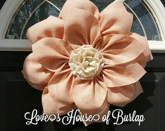 Make a statement with this large burlap by Loveshouseofburlap