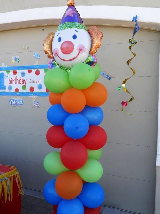 Carnival clown balloon decoration carnival theme for Decoration carnaval
