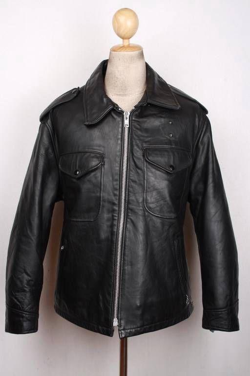 Brooks Gold Label Cafe Racer Steerhide Leather Jacket